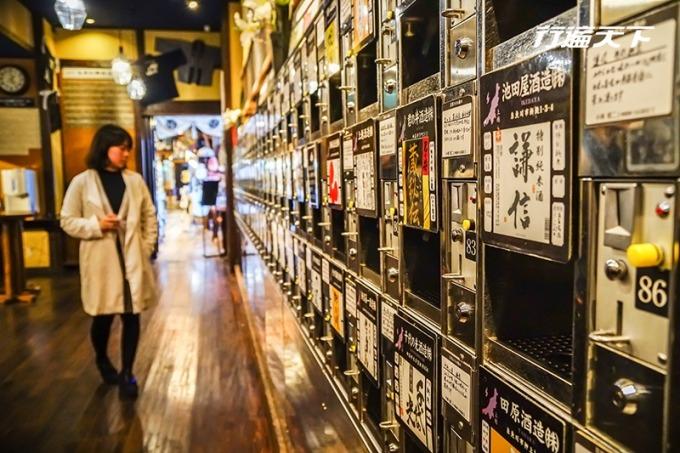 越後清酒博物館 PONSHU 館只要 500 円就能體驗近百種清酒。