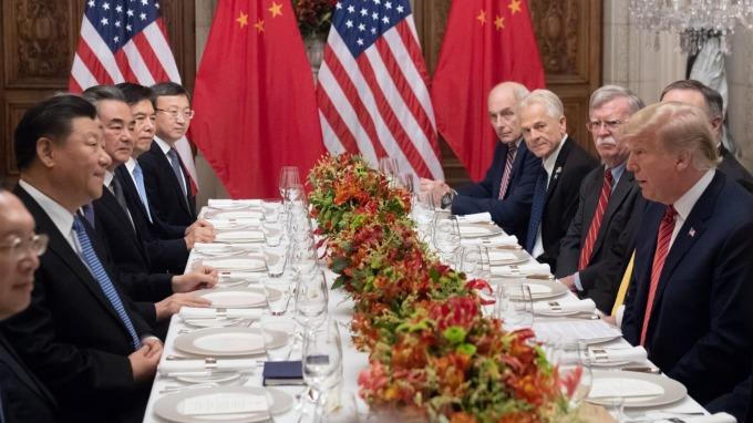 川普和習近平於 G20 峰會期間,達成貿易戰停火 90 天的協議。(圖:AFP)