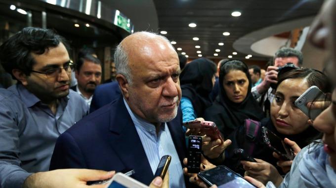 伊朗石油部長Bijan Zanganeh。(圖:AFP)