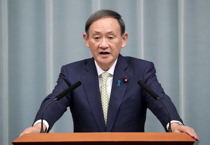 內閣官房長官菅義偉 (圖片來源:AFP)