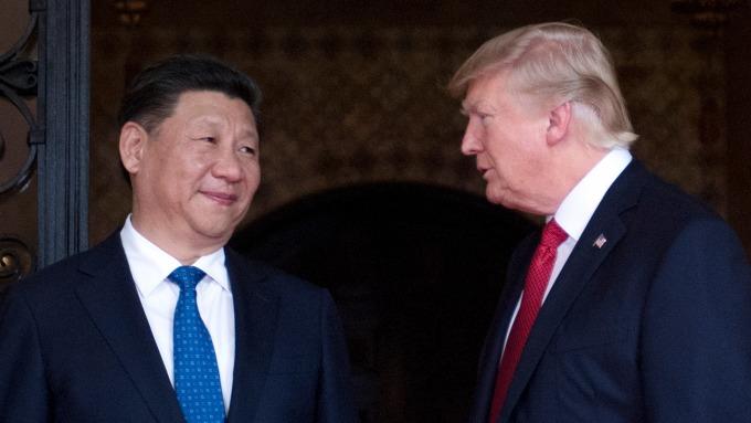 川普稱美中貿易談判進展順利。(圖:AFP)
