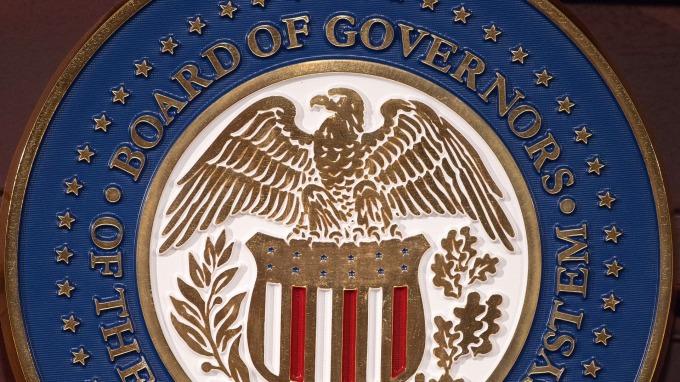 聯準會標徽。(圖:AFP)
