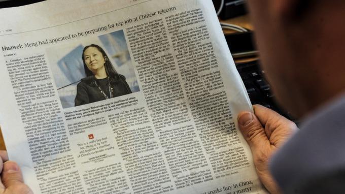 華為首席財務官孟晚舟於加拿大被拘押。(圖:AFP)