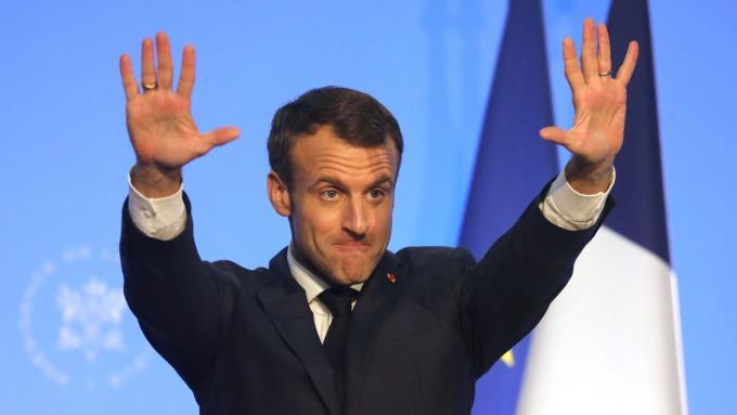 法國總統馬克宏。(圖:AFP)