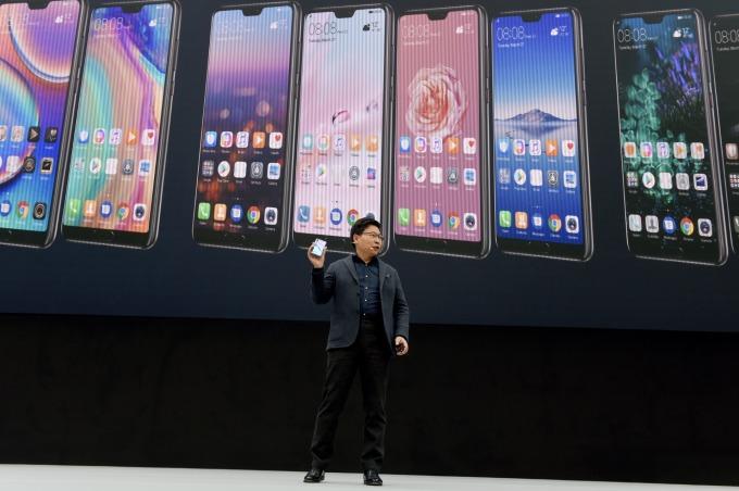 華為智慧型手機產品 (圖片來源:AFP)