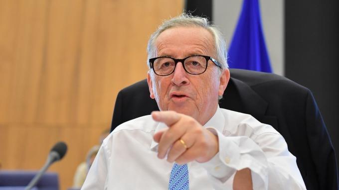 歐盟執委會主席容克。(圖:AFP)
