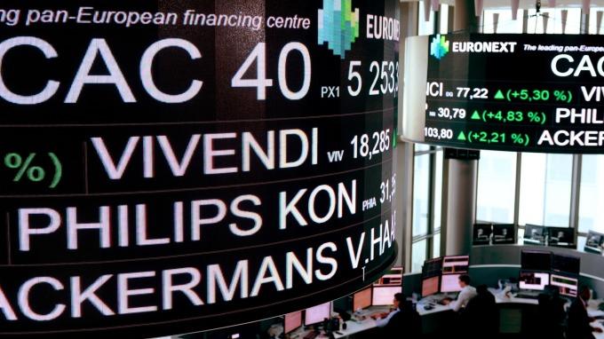 圖:AFP  中美貿易談判持續進行 歐洲股市週二收高