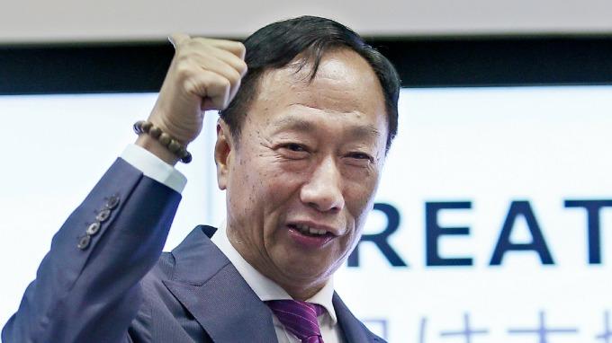 Gou's massive stock buy boosting Hon Hai's shares to hike.