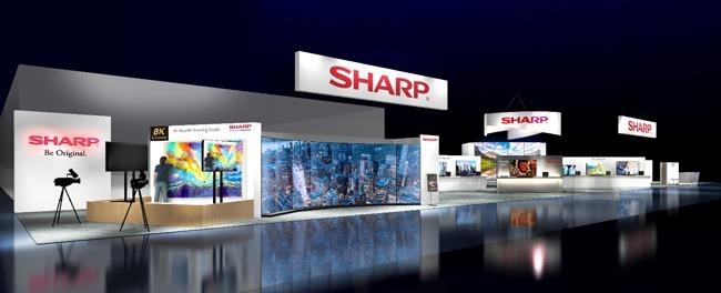 SHARP 在 CES 2019 的展示空間示意圖 (圖:翻攝自SHARP官網)