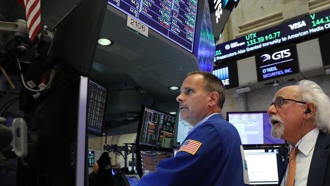 圖:AFP  美國股市週二大幅反彈