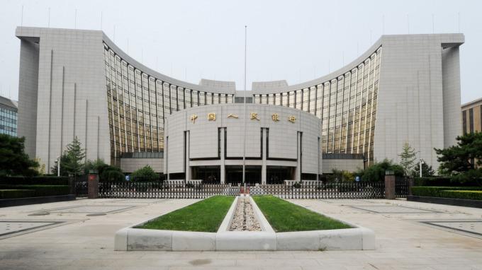 中國人民銀行建築。(圖:AFP)