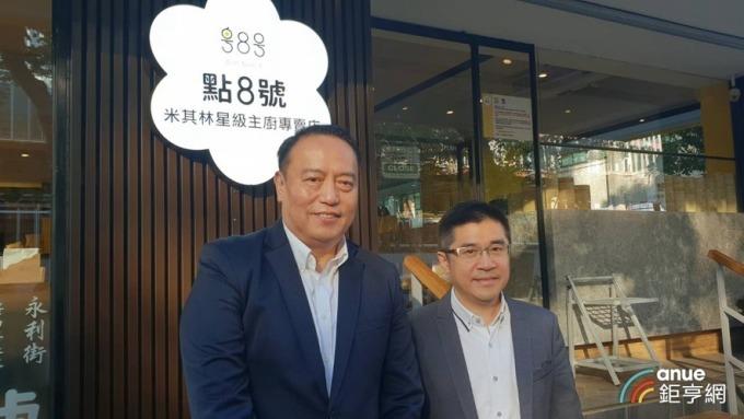 天蔥董事長盧俊賢(右)與總經理齊國興(左)。(鉅亨網記者王莞甯攝)