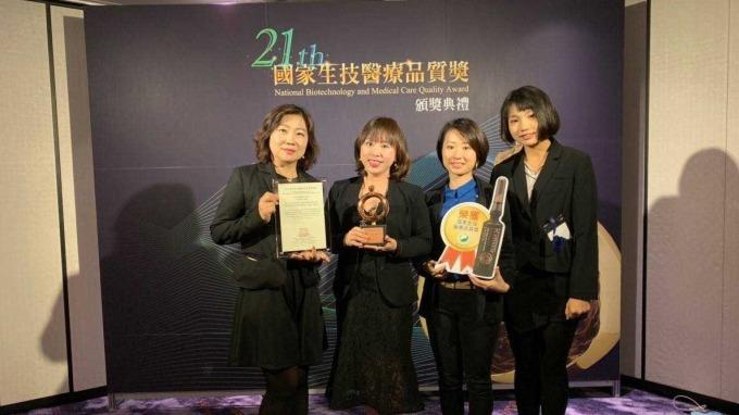 佐登KY旗下品牌佐登妮絲榮獲《國家生技醫療品質銅牌獎》。(佐登妮絲提供)