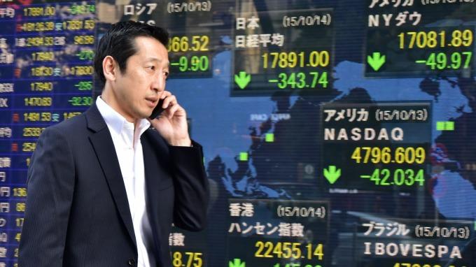 日經重挫4%。(圖:AFP)