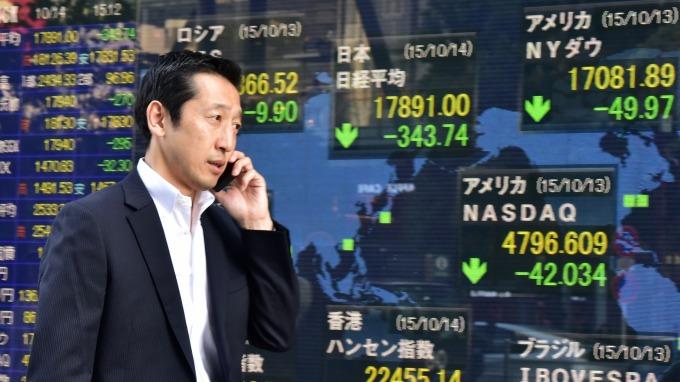 日經收跌5%,失守2萬點大關。(圖:AFP)