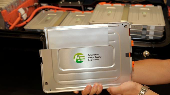 EV用鋰電池 (圖片來源:AFP)