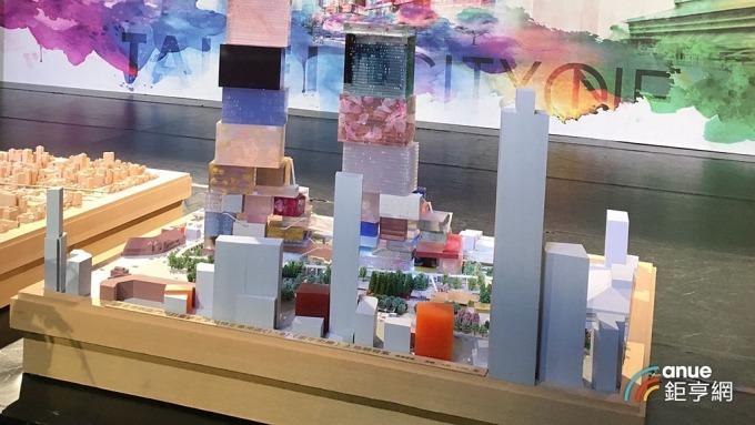 南海团队对「台北 CITY ONE」的开发案规划图。(钜亨网记者张钦发摄)