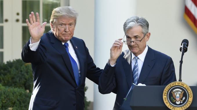 川普可能與鮑爾見面。(圖:AFP)