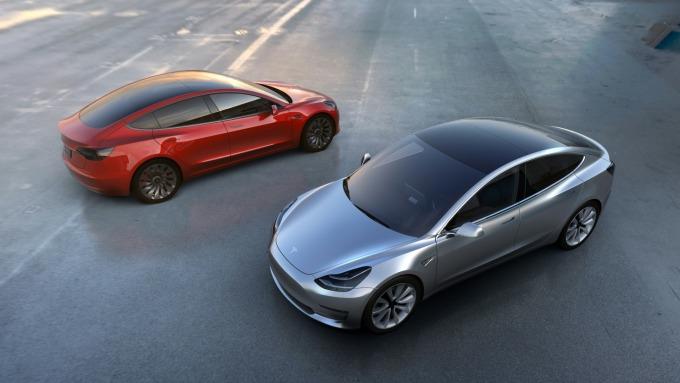 特斯拉Model 3電動汽車 (圖:AFP)