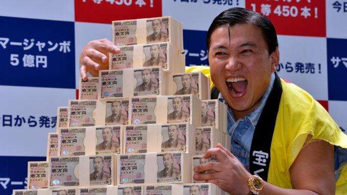 日圓兌美元漲至7個月高點。(圖:AFP)