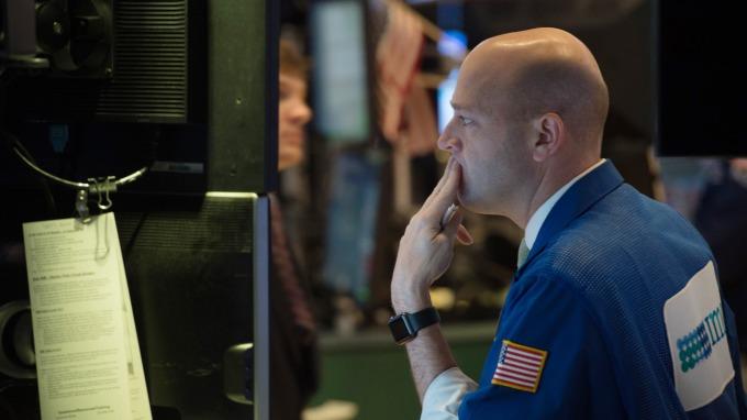 美國隔夜公債庫藏股利率創記錄漲幅。(圖:AFP)