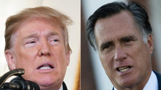 羅姆尼指川普不足以擔任美國總統。(圖:AFP)
