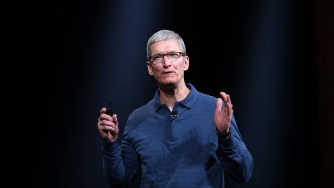 蘋果CEO庫克。(圖:AFP)