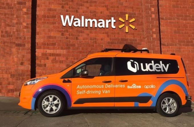 沃爾瑪與 Udelv 合作的網購雜貨配送自動駕駛車(圖:沃爾瑪官網)