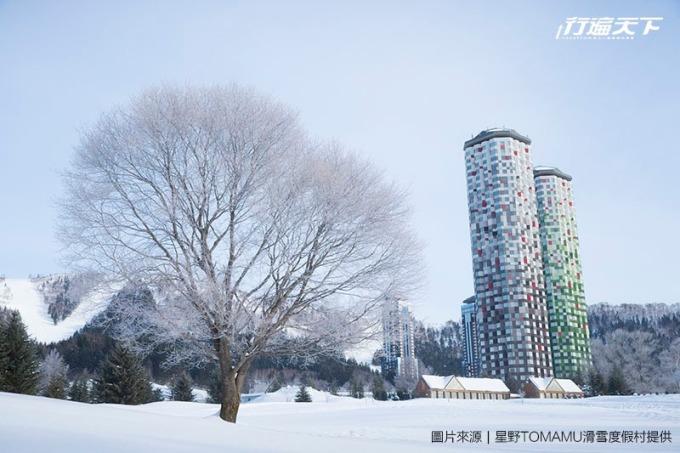 星野TOMAMU滑雪度假村The tower外觀冬