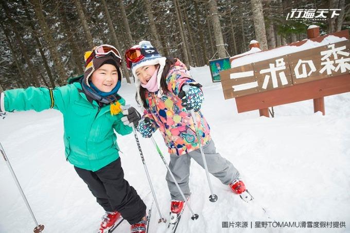 針對大人與小孩都有著各層級雪道。