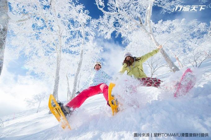 這裡的雪質輕柔,屬粉雪等級,滑起雪來特別有感。