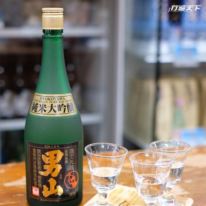 連續 40 多次獲得了金賞殊榮的男山純米大吟釀。