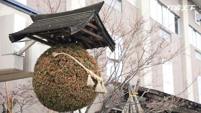 經常可見懸掛在日本酒廠門口的杉木圓球。