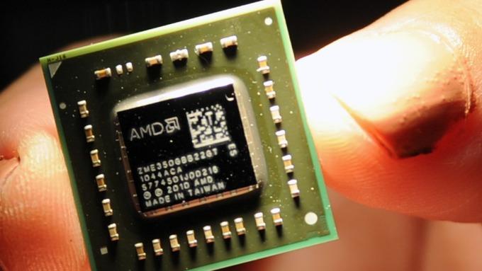 費半指數週三唯一走跌的晶片股AMD (圖:AFP)