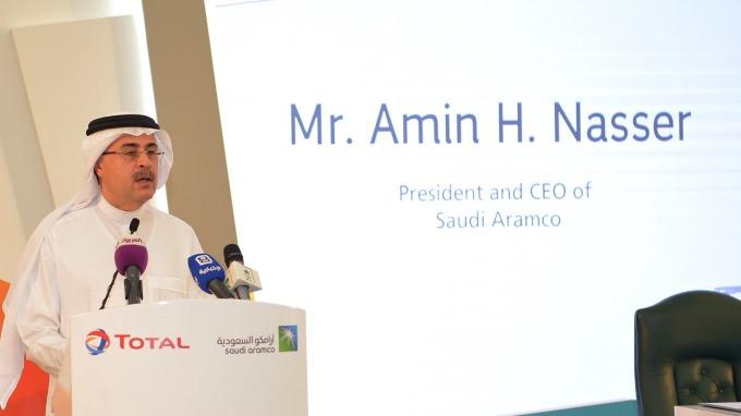 圖:AFP  沙烏地阿拉伯國營石油公司執行長Amin Nasser