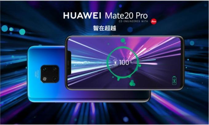 華為去年推出搭載三鏡頭的 Mate 20 Pro。(圖:華為官網)