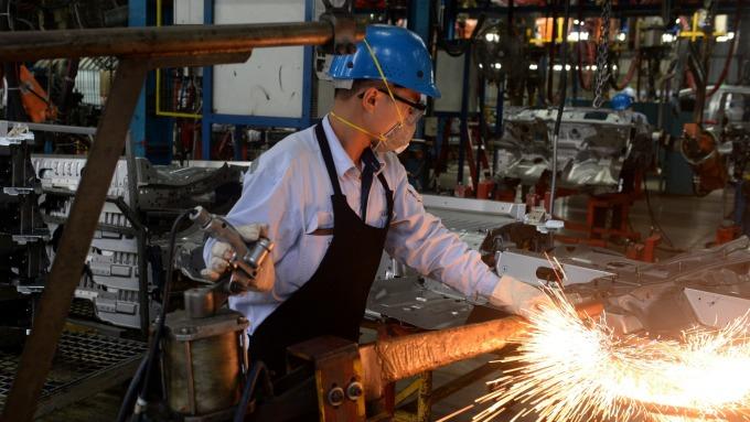 越南工廠工人(圖:AFP)
