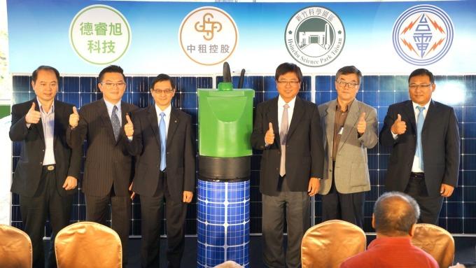中租-KY(5871-TW)旗下中租迪和今(14)日宣布新竹科學園區的矽導立體停車場屋頂型太陽能電廠正式啟用。(圖:中租提供)