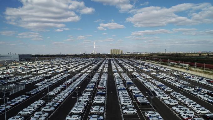 中國車市冷颼颼。(圖:AFP)