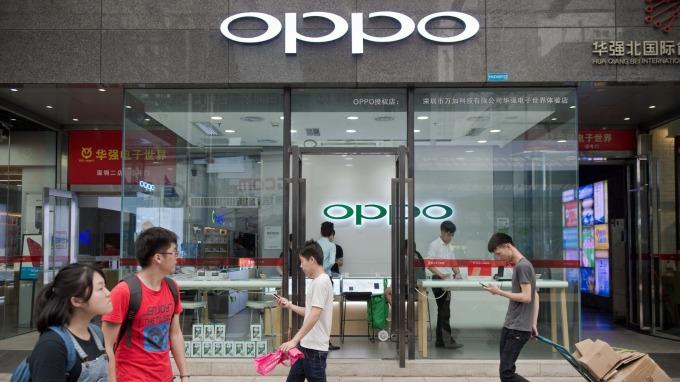 因應5G新局,OPPO成立新事業部。(圖:AFP)