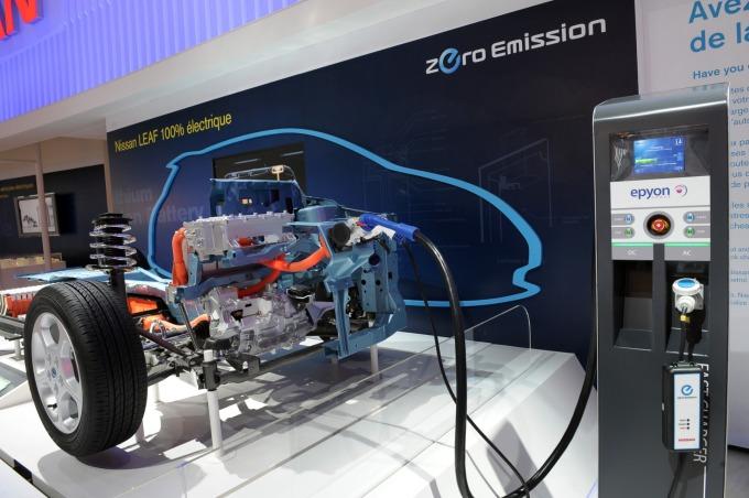 EV的驅動馬達上通常會使用到釹磁鐵 (圖:AFP)
