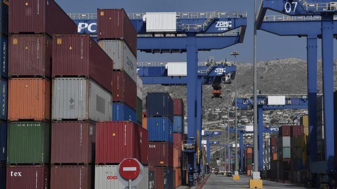 希臘Piraeus港口貨櫃(圖:AFP)