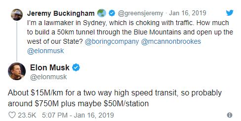 澳洲議員 Buckingham 與馬斯克推文 (圖: 推特)