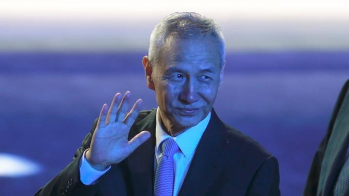 中國國務院副總理劉鶴。(圖:AFP)
