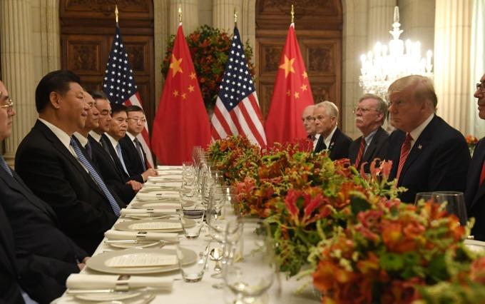 美國總統川普和中國國家主席習近平於阿根廷 G20 峰會期間會面。(圖:AFP)