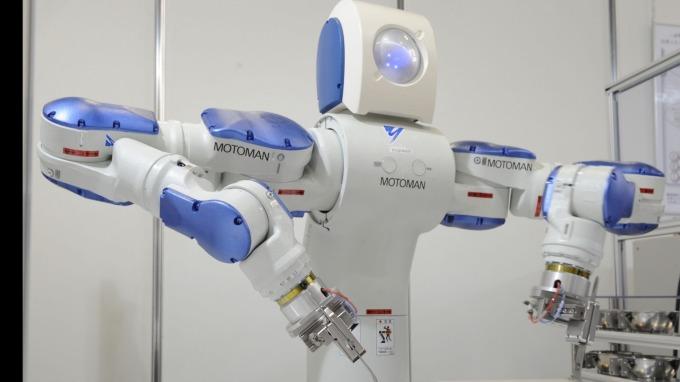 安川電機所製造的機器人 (圖:AFP)