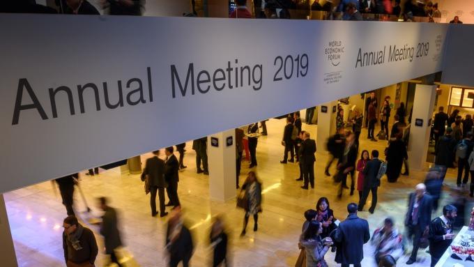 圖:AFP  2019年世界經濟論壇在瑞士達沃斯舉行