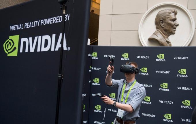 繪圖晶片大廠 Nvidia 下修財測。(圖:AFP)