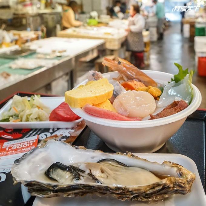 古川市場自行客製化的海鮮大餐,很有滿足感。