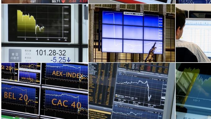 圖:AFP  歐洲主要股市漲跌互見